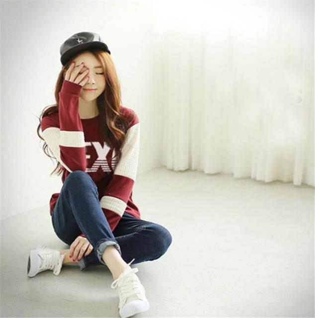 8902a23882692 KPOP Shinee concert fans supportive hoodies kpop taemin min ho o neck black  white sweatshirt plus