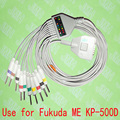 Compatible with Fukuda ME KP-500D EKG Machine,One-piece ECG cable and leadwires,15PIN,3.0 DIN,IEC or AHA.