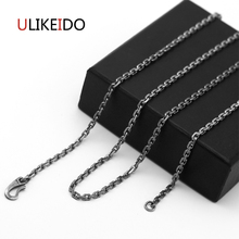 S925 Sterling Silver Jewelry Pendant Necklaces Fashion Charms Punk Link Chain For Men And Women Fine Christmas Gift  720 s925 anchor pendant silver pendant chain retro punk pirate men