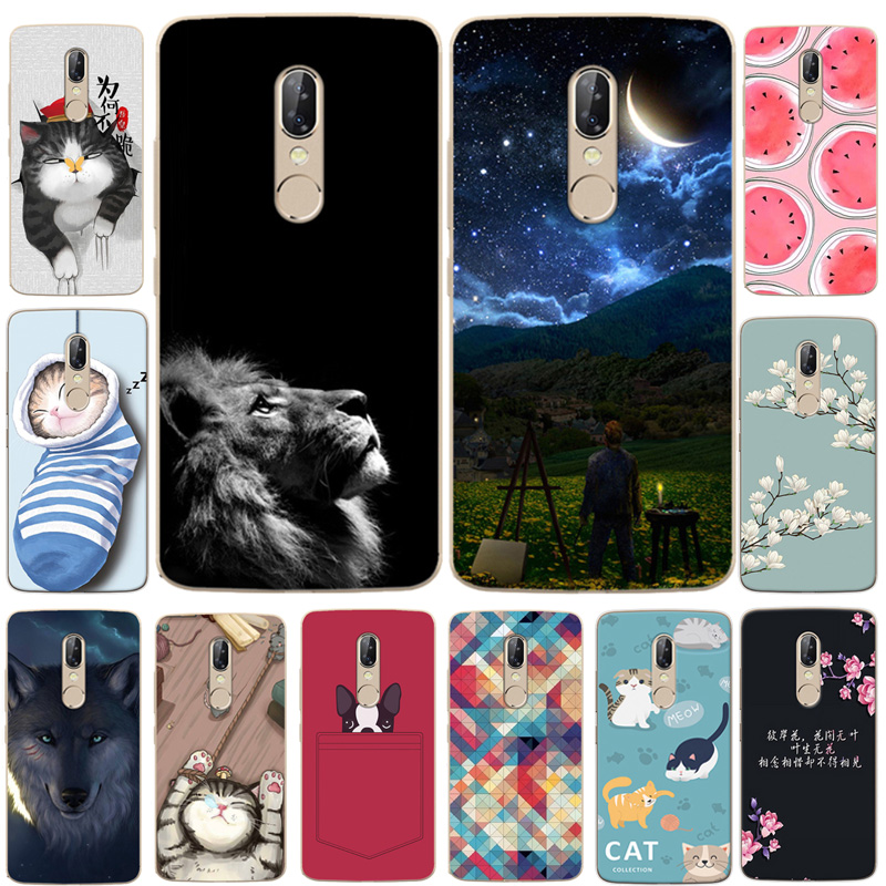 For ZTE Axon7S <font><b>A2018</b></font> Case Axon 7s Cover Cat Dog Animal Cartoon Soft TPU Silicone Cover For ZTE Axon 7S 5.5 inch <font><b>A2018</b></font> Phone Case image