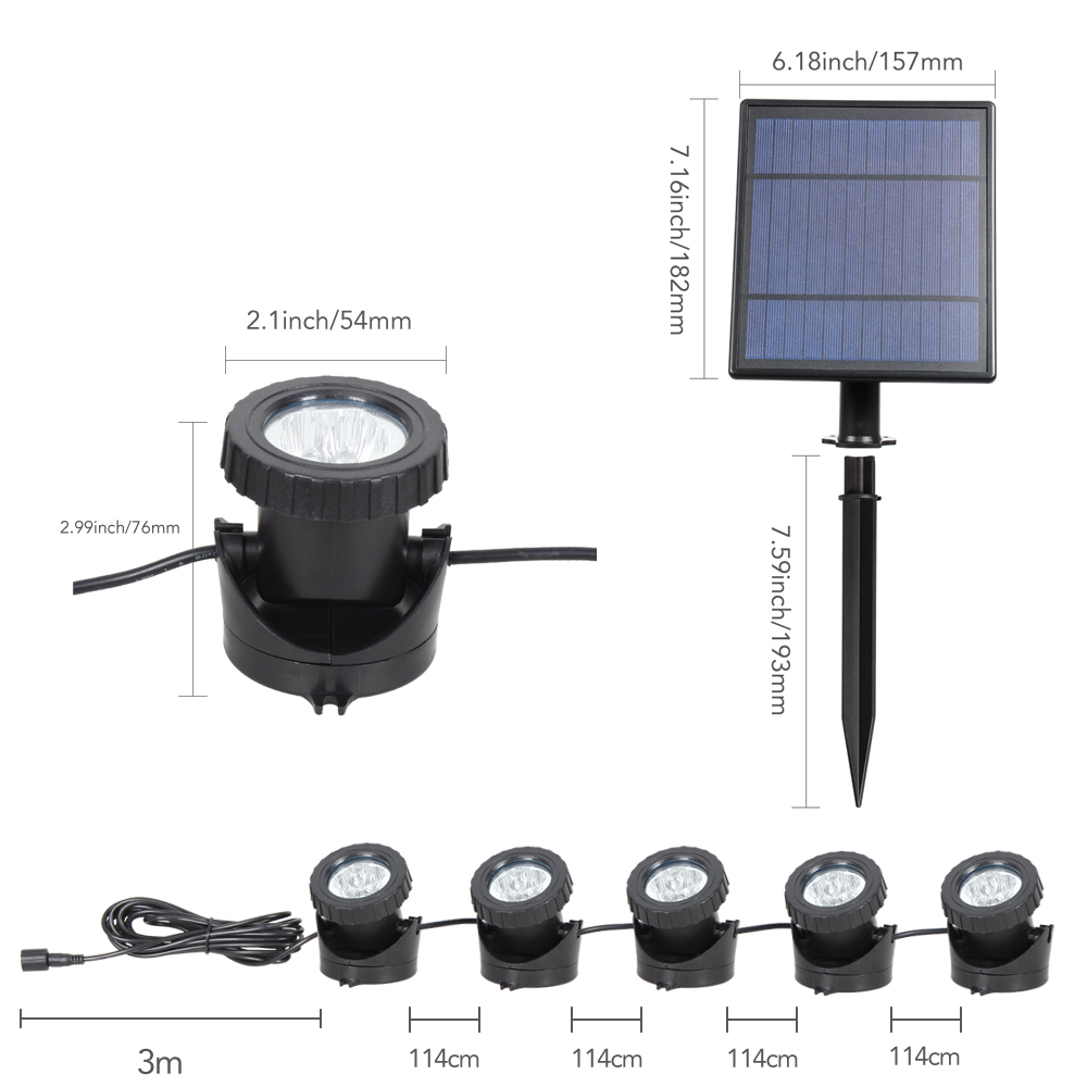 T SUNRISE LED Solar Powered Lamp Outdoor RGB Color Changing Solar Spotlight IP68 Waterproof Solar Light Landscaping for Garden in Solar Lamps from Lights Lighting
