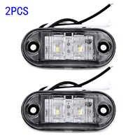 2pcs Car Side Marker Tail Light White LED DC 10V-30V Car Trailer Truck E11 Marked Lights Lamps Car Accessories