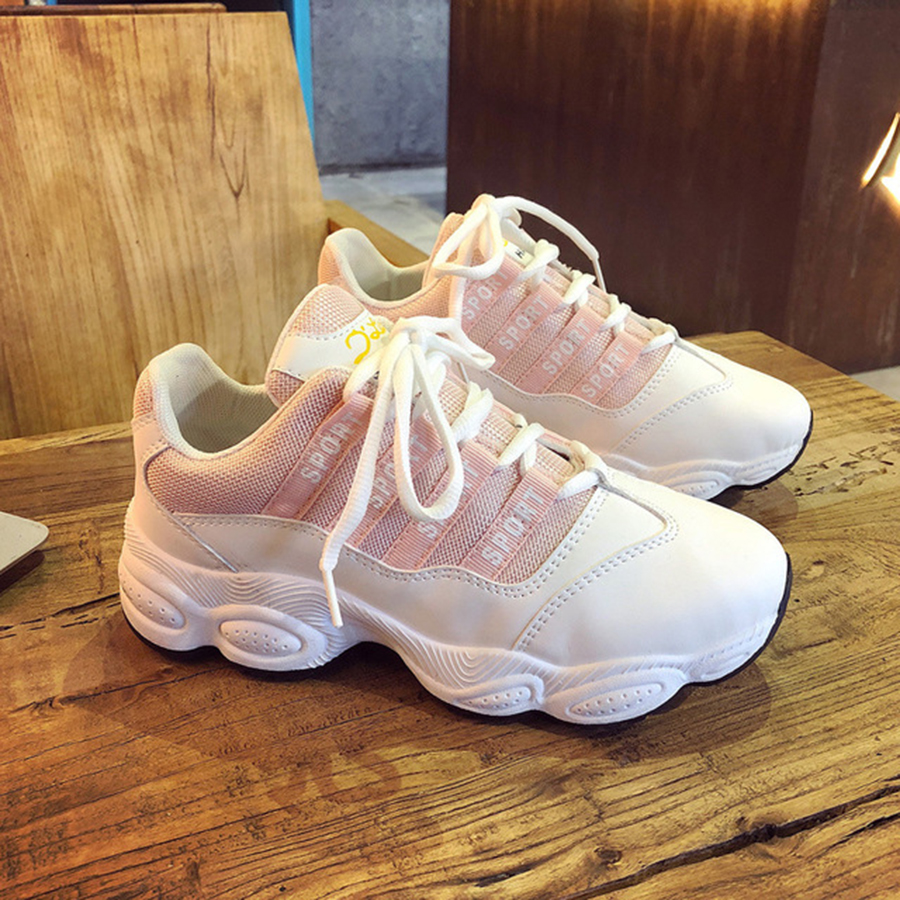 Spring New Unique Casual Shoes Female Students Harajuku Super Hot Chic Sports Shoes Show Graceful Sweet Women's White Shoes
