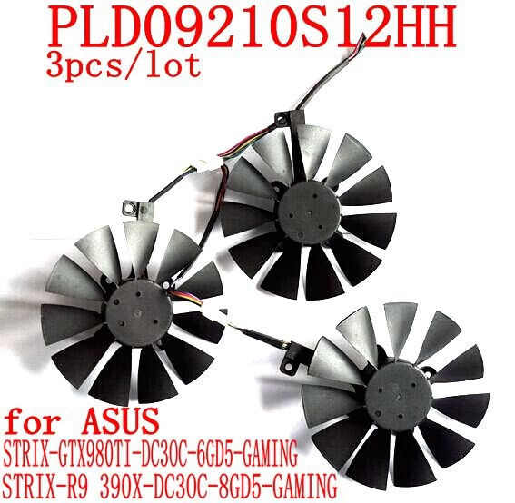 PLD09210S12HH/T129215SU 85MM Diameter Computer VGA cooler Video card fan for ASUS STRIX GTX1070 1080 graphics cards cooling 2pcs gpu rx470 gtx1080ti vga cooler fans rog poseidon gtx1080ti graphics card fan for asus rog strix rx 470 video cards cooling