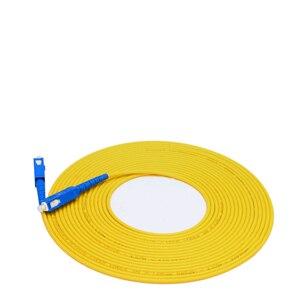 Image 4 - 10 meter SC SC SM SX 3mm 10 M 9/125um SC/PC Glasvezel Patchkabel Optische fiber Jumper Kabel