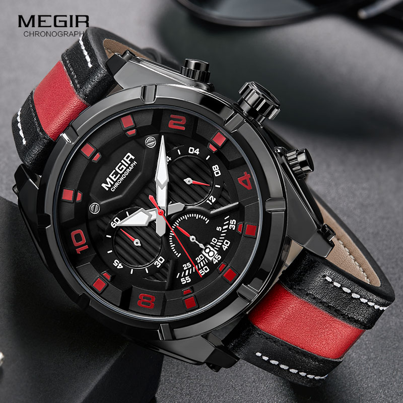 Reloj de pulsera de hombre Megir Relojes Hombre Reloj de pulsera de - Relojes para hombres - foto 3