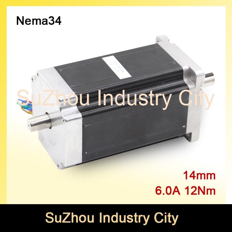 ФОТО NEMA 34 Double Shaft CNC stepper motor 86X150mm 12 N.m 6A  nema34  stepping motor 1700Oz-in for CNC engraving machine 3D printer