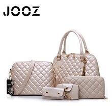 JOOZ Brand Luxury Diamond Lattice PU Leather Lady Handbags 5 Pcs Set Composite Women Bags Crossbody