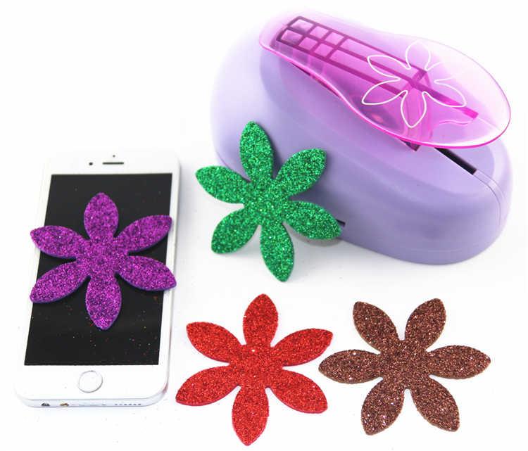 Envío Gratis 76mm perforadora de flores perforadoras para colección de recortes perforar perfurador cortador de papel furadores de papel para scrapbook R349