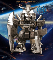 2016 new arrival Obsidian Arms SD 3D Metal Model Puzzle HOT SALE Assembled fun Head can rotate Creative gifts Wholesale price