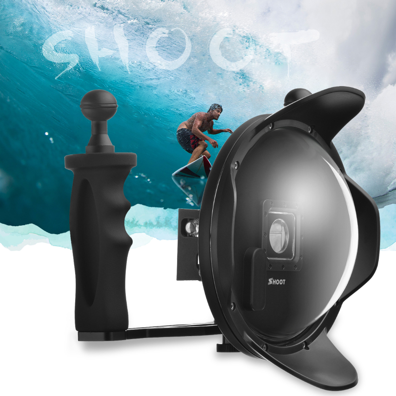 6 inch Diving Dome Port With Extra LCD Waterproof Housing Case Float Bobber for Gopro 3+/4 Black Go pro Hero 4 Action Cam цена и фото