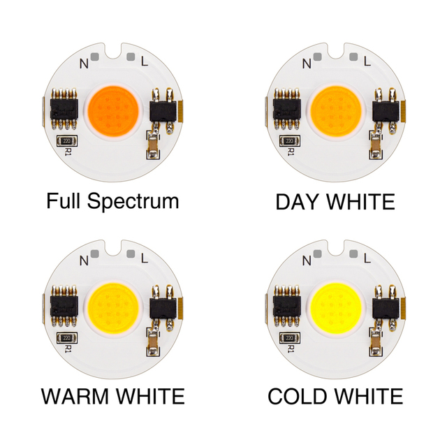 LED COB Chip light 12W 9W 7W 5W 3W 220V 230V 240V Input Smart IC Driver Fit For DIY Cold Warm Day White LED Spotlight Floodlight