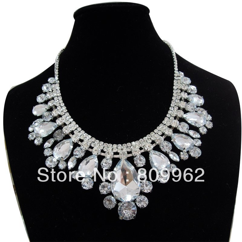 Free shipping fashion wedding jewelry accessories bridal for Costume jewelry for evening gowns
