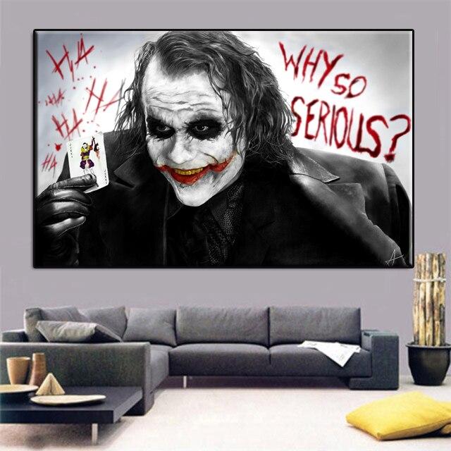 Not Framed Canvas Print Wall Painting Batman Film Movie Joker Home ...