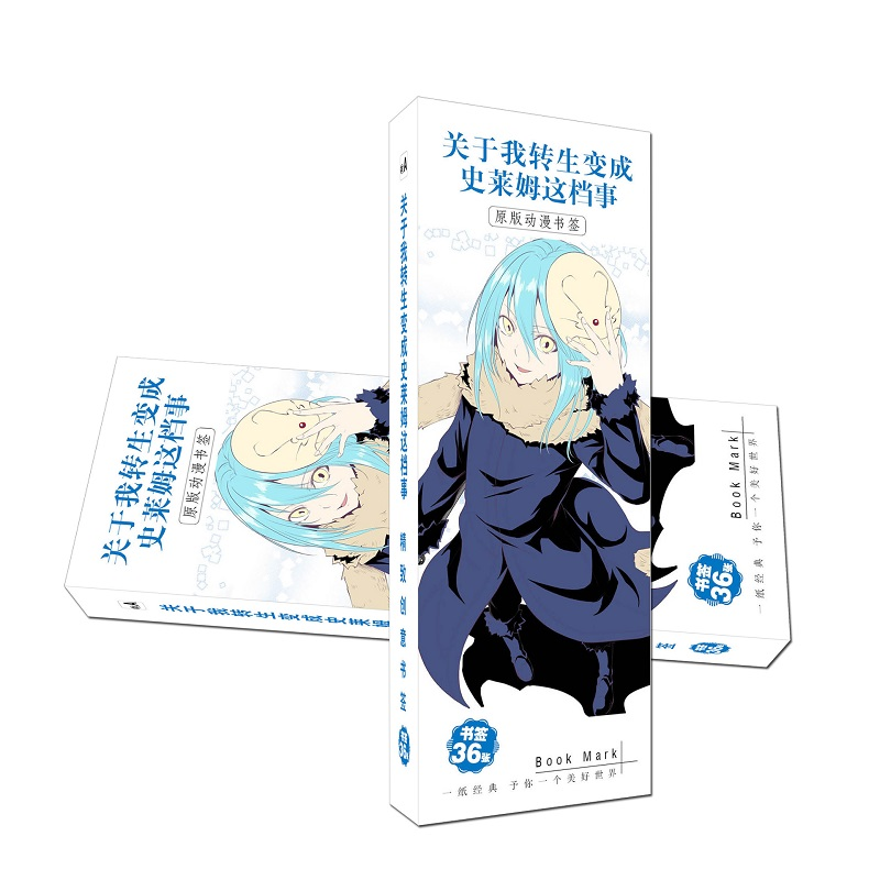 36 Pcs/Set Anime That Time I Got Reincarnated As A Slime Paper Bookmark Stationery Bookmarks Book Holder Message Card