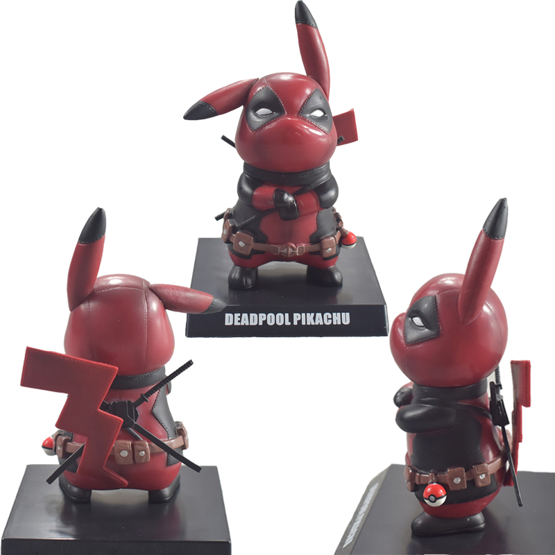 Deadpool Captain America Pikachu Mini PVC Figure Toy Cosplay Collectible Model Toys Fans Gifts Props