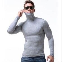men tshirt man t shirt sexy slim tight turtleneck t shirts tops mens modal long sleeve t shirt free match thermal t shirts