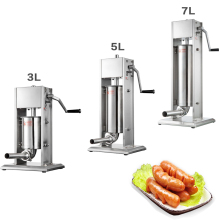 цена 3L/5L/7L Manual Sausage Maker Sausage Filler Meat Filling Machine Stainless Steel Sausage Machine Funnel Sausage Meat Processors в интернет-магазинах