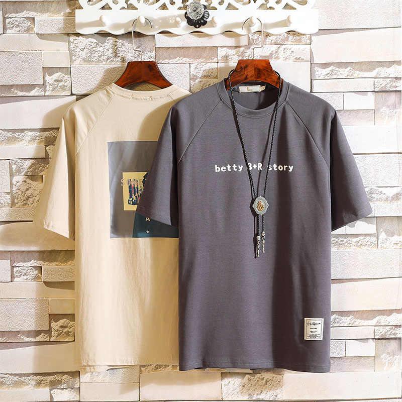 Hombre verano 95% algodón 5% spandex camisetas de verano nuevas camisetas de manga corta de talla grande para hombre Camiseta estampada asiática tamaño M-5XL