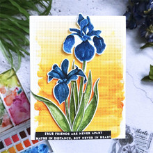 DiyArts Clivia Flowers Dies Metal Cutting Die Scrapbooking for Card Making Photo Craft Foliage Flower Dies and Clear Stamps