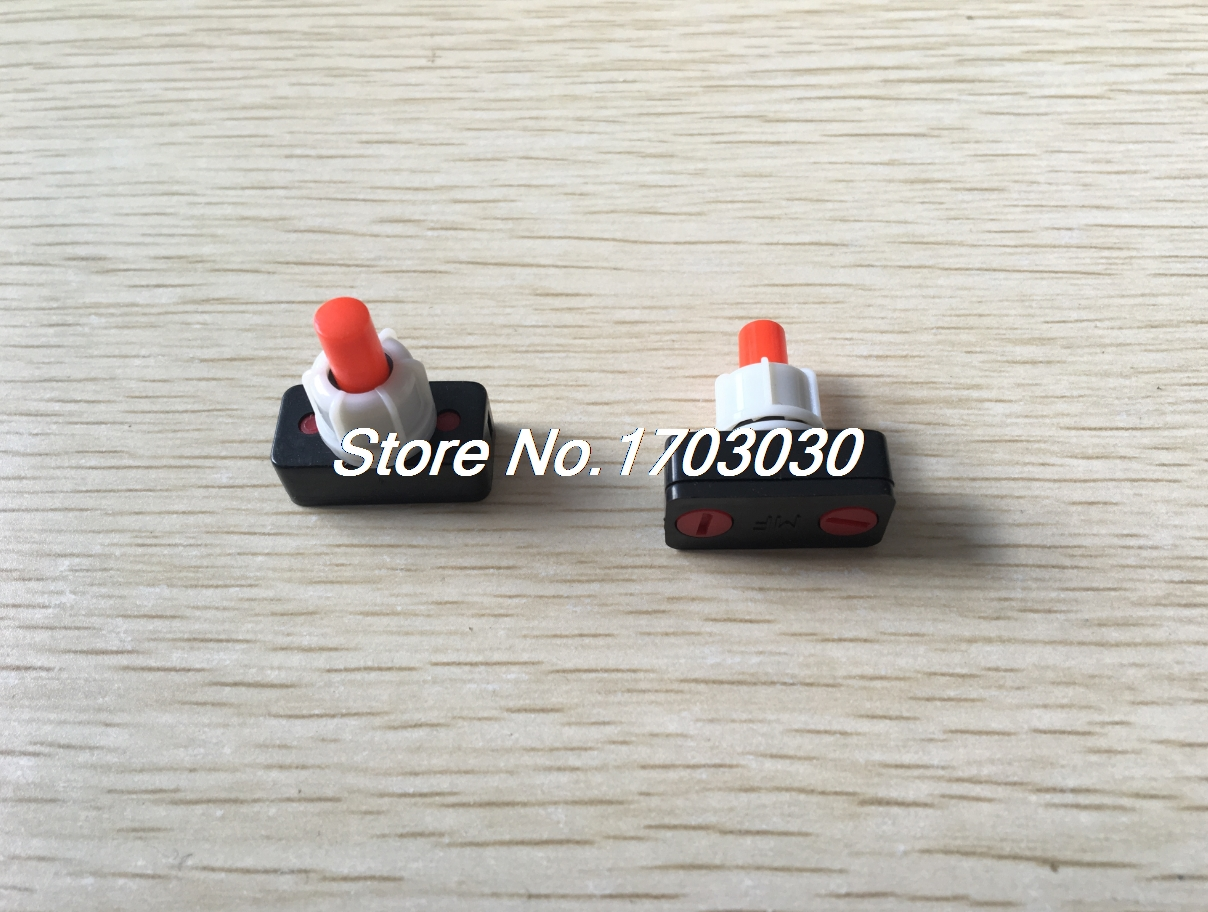 3pcs SPST ON-OFF Latching Red Round Head Push Button Switch AC 250V 1A g126y 2pcs red led light 25 31mm spst 4pin on off boat rocker switch 16a 250v 20a 125v car dashboard home high quality cheaper