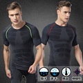 Men's Body Shaper Short Sleeves Quickly Dry Slimming Shirt Tummy Waist Tops Mens Underwear Fat Burning Lose Weight