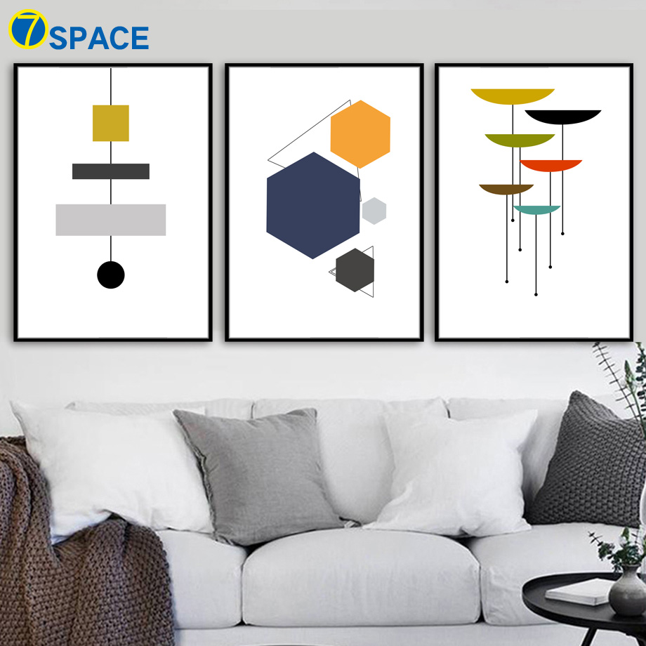 Abstract Geometric Nordic Posters And Prints Wall Art Canvas Painting Decoration Pictures For Living Room Bedroom Quadro Decor(China)
