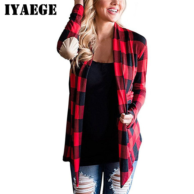 Pull Femme 2018 Spring Plaid Cardigan Women Casual Long Sleeve Print Cardigans Poncho Print Knitted Jumper Women Cardigans Coat como vestir con sueter mujer