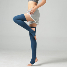 купить 1 pair Women Yoga Long Knitted Leg Warmers Socks Ballet Latin Dance Pilates Ladies Boots Trainer Fitness Leg Stocking дешево