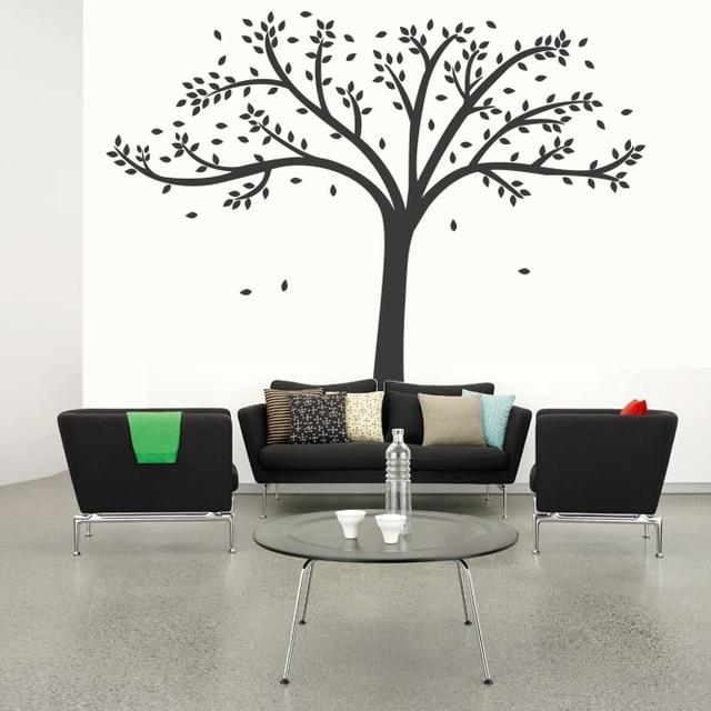 Sticker Mural Arbre Pour Bureau, Autocollants Muraux Forêt Pour Salon,  Autocollants Nature Maison,