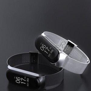 Image 5 - Roreta Mi Band 3 4 Wrist Strap Metal Stainless Steel Wrist Strap For Xiaomi Mi Band 4 3 Bracelet Miband 4 3 Wristbands Strap