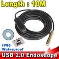 Waterproof USB Endoscope 10M Cable 4LED Dia 14mm Borescope Inspection Wire Camera With Mini Camera Mirror Hook Magnet