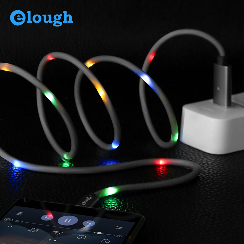 Elough Voice Control Led Light Flash Cable For Type C