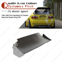 Car Accessories FRP Fiber Glass PDM Style Roof Wing Fit For 1992 1995 Civic Hatchback EG Rear Roof Spoiler Wing