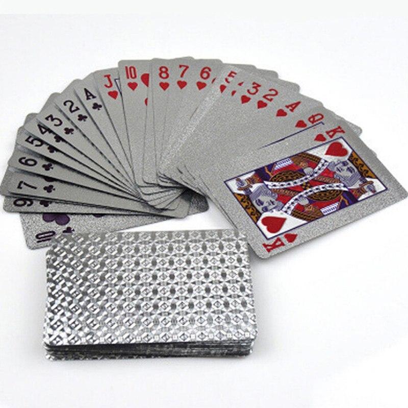 1 Set Piazza Placcato Poker Carte Da Gioco Deck Impermeabili Foglio Di Carta Da Gioco Tavolo Da Gioco Divertente Di Poker Carte Da Gioco Ampia Fornitura E Consegna Rapida