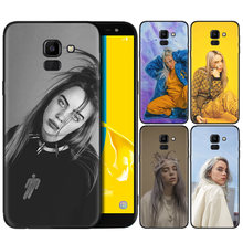 Silicone Case For Samsung Galaxy J4 J6 A6 A8 Plus A7 A9 J8 2018 A5 2017 Soft Cover Shell Billie Eilish Independent singer(China)