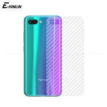 Clear Soft 3D Carbon Fiber Protective Back Film For HuaWei Honor 10 8X Max 9N 9 8 Lite 7S 7X Pro Rear Screen Protector