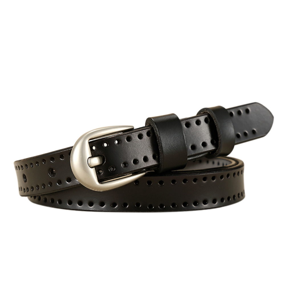 2017 New Fashion Women Genuine Leather Belt Hollow Out Cow Skin Belts For Jeans Top Quality Vintage Female Straps Ceinture Femme