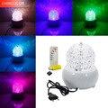 LED 3 Вт сценический свет Авто поворот с AC85-265V MP3/пульт дистанционного управления Хрустальный диско шар красочный свет для свадебной вечеринк...