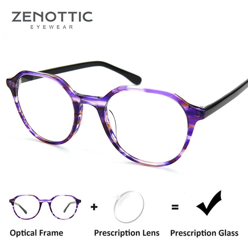 73a8de50ca Aliexpress.com   Buy ZENOTTIC Retro Round Optical Prescription Glasses  Frame Women Photochromic Anti Blue Ray Eyeglasses Myopia Hyperopia  Spectacles from ...