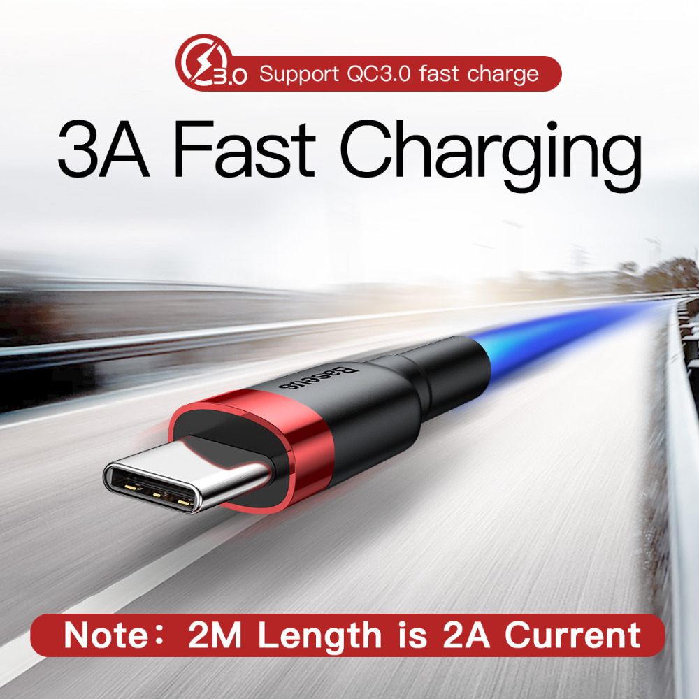 USB Type C Cable for Samsung S10 S9 Quick Charge 3.0 Cable USB C Fast Charging for Huawei P30 Xiaomi USB-C Charger Wire 2