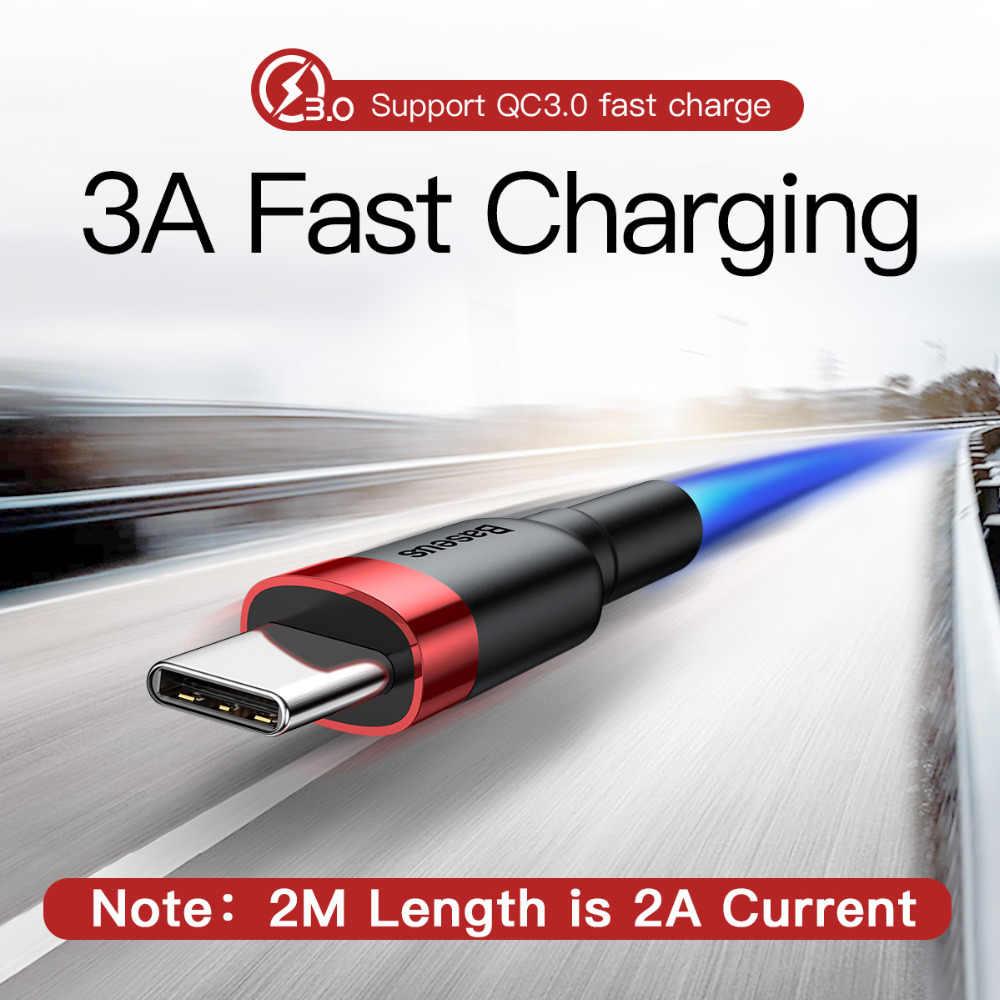 Baseus USB Loại C cho Xiaomi Redmi K20 Pro USB C Điện Thoại Di Động Cáp Sạc Nhanh Type C Cáp các Thiết Bị có CỔNG USB Type-C