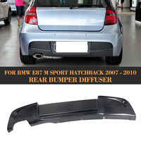 1 серии углеродного волокна заднего бампера спойлер диффузор для BMW E87 M Спорт хэтчбек только 2007 2008 2009 2010 120i 130i P Стиль
