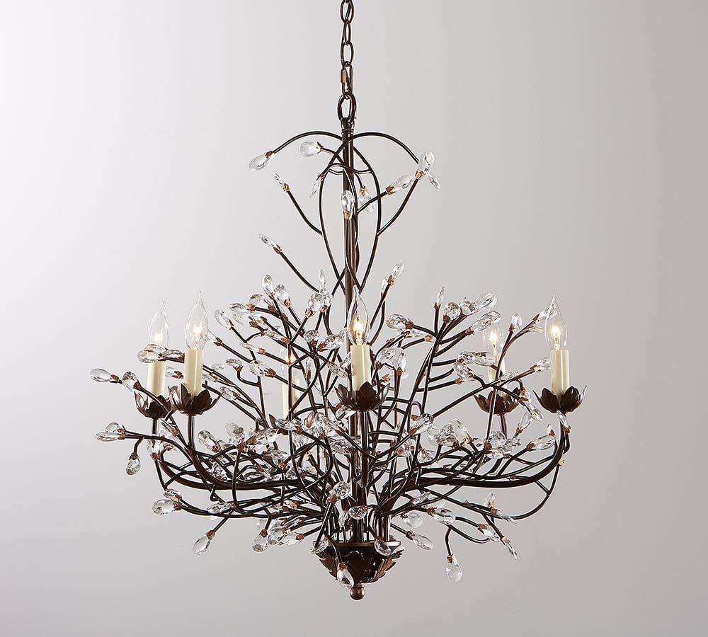 Pottery Barn Camilla Chandelier: Branch Bird Nest Pedant Lights Retro Living Room