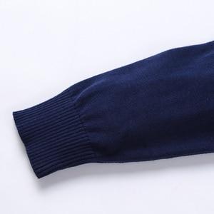 Image 5 - Nieuwe Herfst Winter Mode Merk Kleding Mannen Truien Warm Slim Fit Coltrui Mannen Trui 100% Katoen Gebreide Trui Mannen