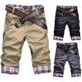 2016 Novas Calças Dos Homens Hot moda Corrente de Maré Masculina Moda Casual Calças dos homens de Verão sete algodão ocasional magro