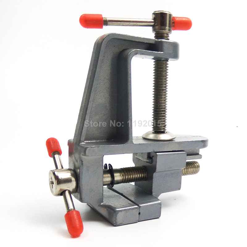 """1 Pcs 3.5"""" Aluminum MiniAture Small Jewelers Hobby Clamp on Table Bench Vise Tool Vice for Holding Parts In Jewelers Hobby Model"""