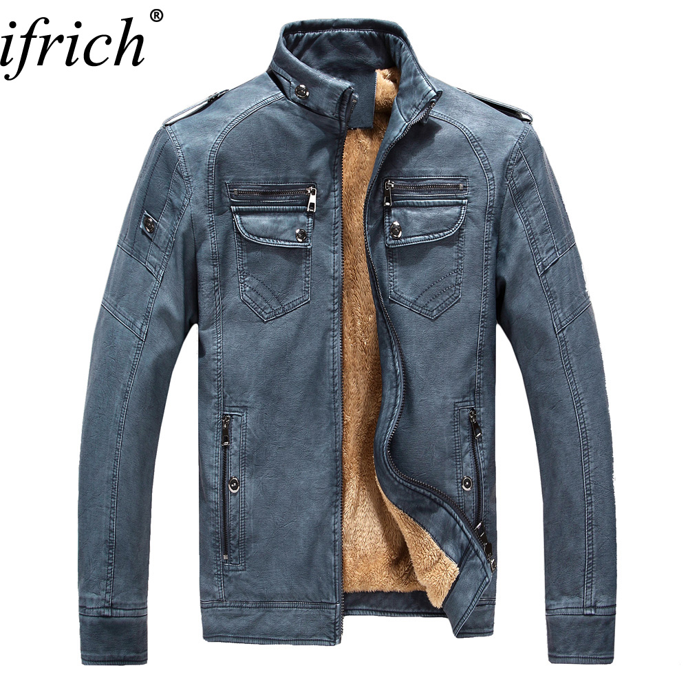 New Men Leather Jackets High Quality Motorcycles British Business Mens Casual Fashion Military Tactical Male Jacket Plus Velvet