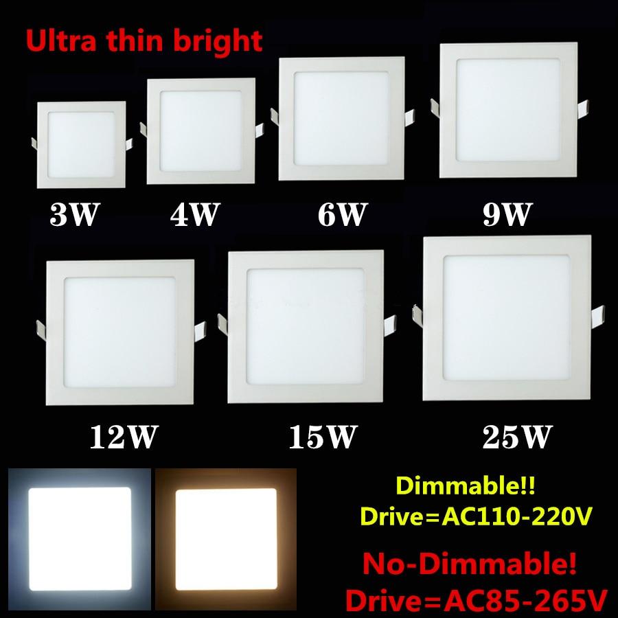 LED işıqfor 4W 6W 9W 12W 15W 25W Kvadrat / Dəyirmi Ultrathin SMD - Daxili işıqlandırma - Fotoqrafiya 2