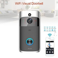New Smart WiFi Wireless Video Doorbell Intercom System HD 720P Wide Angle Camera Two Way Audio IP65 Waterproof Home Security